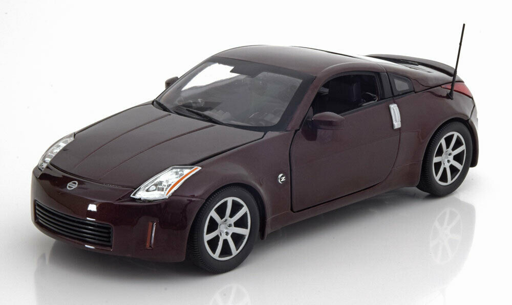 NISSAN 350Z COUPE 2003 DARK rouge METAL ERTL AUTOWORLD AW240 1 18 1002 PIECES