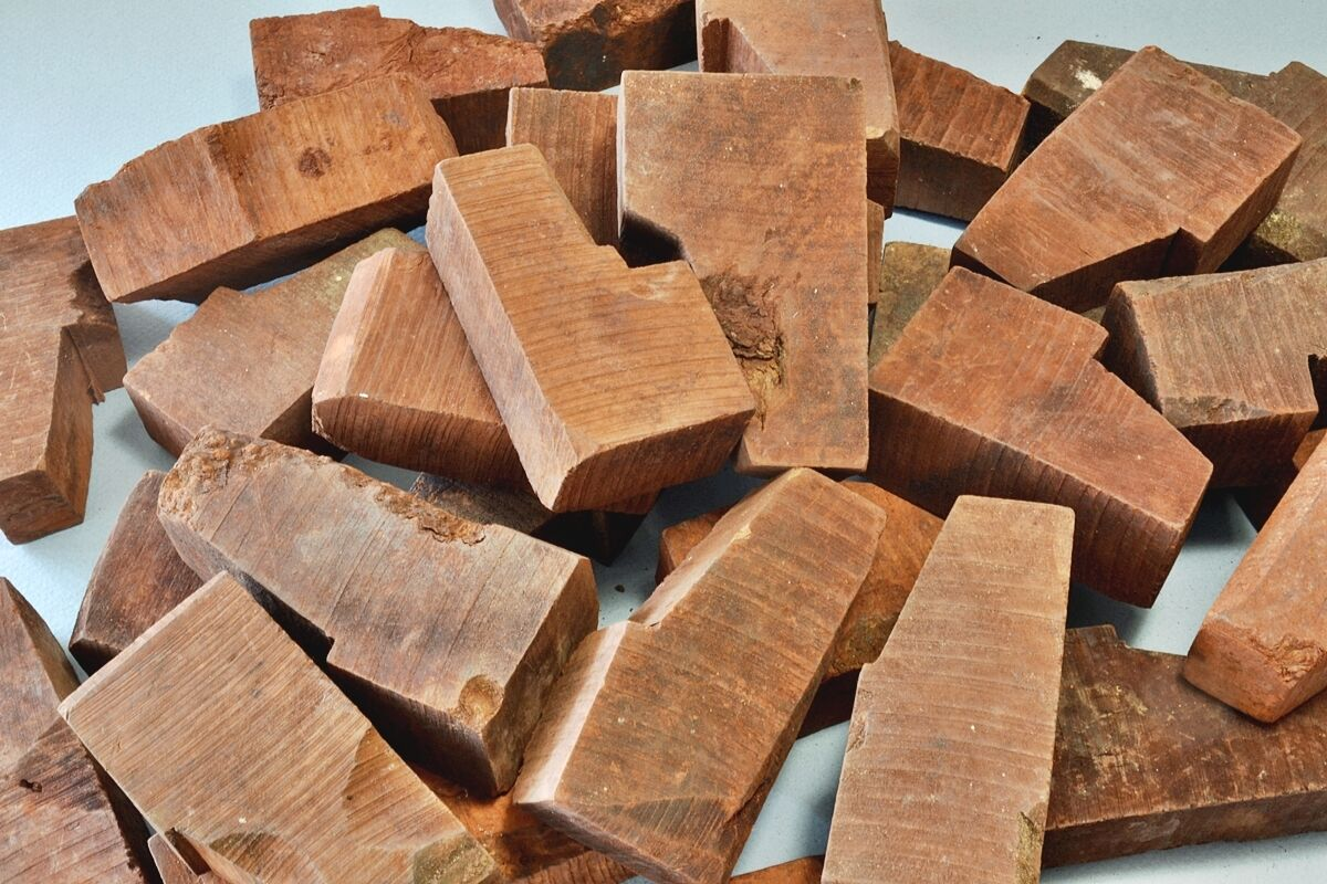Briar Greek Blocks Ebauchons a lot of 4 BPB-M11SP for Straight Semi Bent Pipes