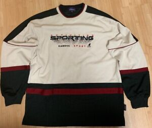Details about Mens Kangol Sport Vintage Hockey Jersey Spellout Sweater Sewn  Men\u2019s Crewneck