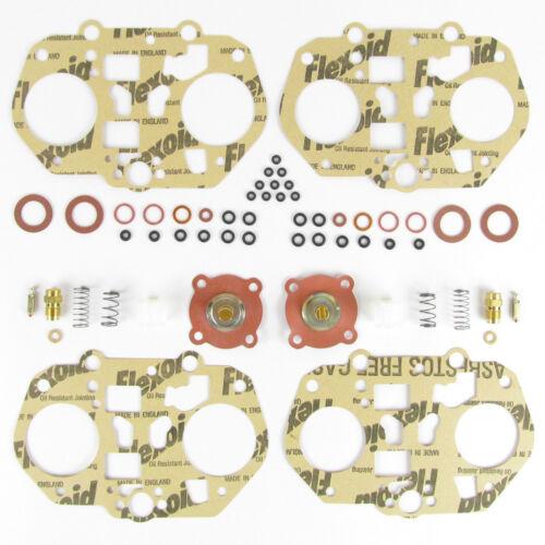 Par Dellorto DRLA 45 twin carburettors//servicio//kit del reacondicionamiento Junta Carbohidratos