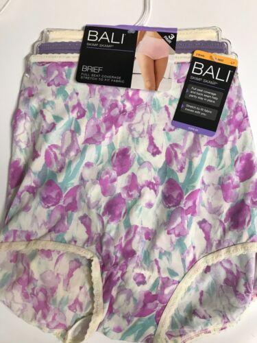 9 or 10 Briefs Set//3 MSRP $26.00 NEW Bali Women/'s Skimp Skamp Panties Size 7