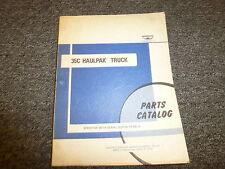 Wabco 35C Haulpak Off Highway Truck Parts Catalog Manual Book S/N end in CFA20-A