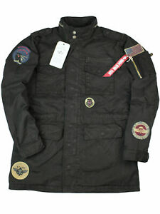 Alpha-Industries-Jacke-Parka-Feldjacke-Huntington-Patch-176117-03-Schwarz-6167