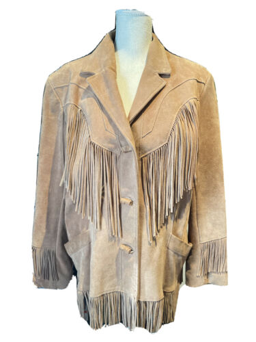 Vintage 70's Pioneer Wear Tan Leather Jacket size