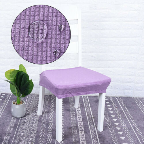 Waterproof Stretch Kitchen Dining Chair Seat Cover Protector For 16-20 Inch Seat
