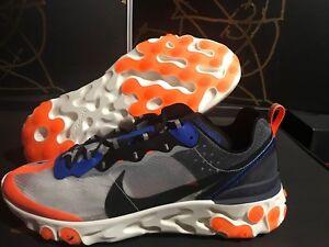 Raccogliere amazon prezzi economici Nike React Element 87 Wolf Grey/Black Thunder Blue Orange AQ1090 ...