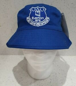 Everton Fc Official Reversible Sun Bucket Hat Royal And White Junior Ebay