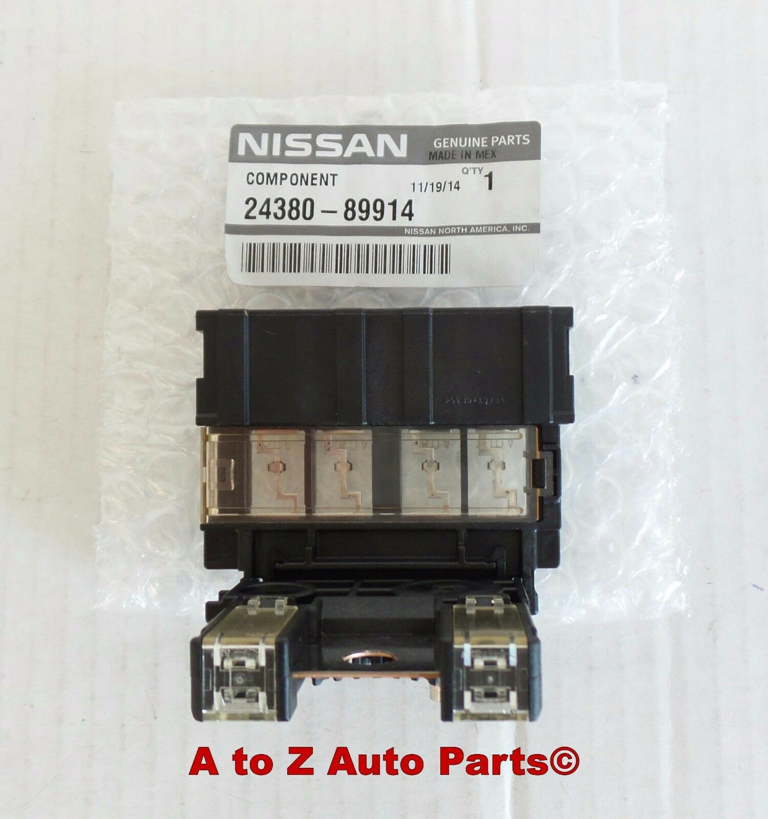 Positive Battery Fuse Connector Battery Circuit Fuse Fusible Link Holder for 2005-2015 Nissan Xterra Pathfinder Frontier Replace OE# 24380-89914 2438089914