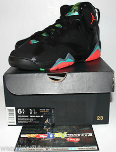 finest selection 97140 632d7 Details about Air Jordan Retro 7 VII Barcelona Nights Marvin Martian  Sneakers Boy's Size 6.5