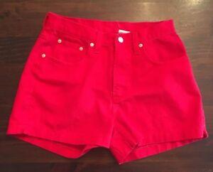 d142d9bd65 Details about Jordache Womens Juniors Red Denim Jean Shorts Size 11/12 100%  cotton
