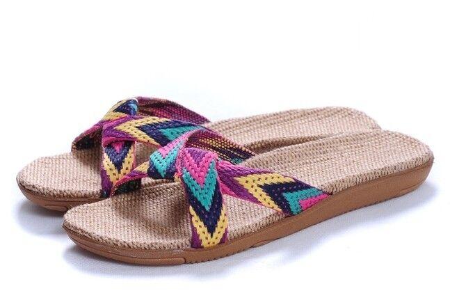 Natural Comfortable Flax Jute Hemp wemen Sandals Slippers  - wemen Hemp (US6) e15f1a