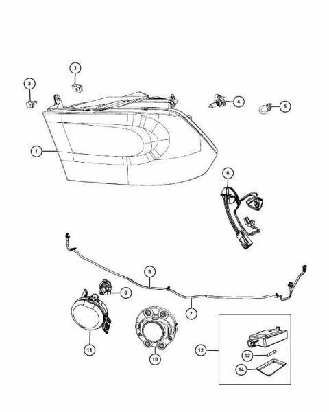 Mopar Headlamp Park And Turn 68093216ad For Sale Online