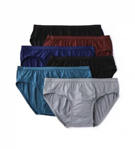 Hanes Men's Bikini 6-Pair Size 2XL Ultra Soft Cotton Stretch Assorted Colors