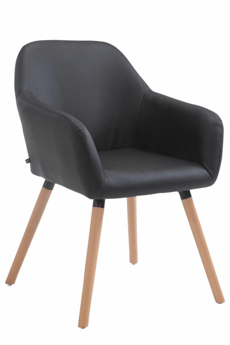 Besucherstuhl Achat V2 Natura Wartezimmer Stuhl schwarz