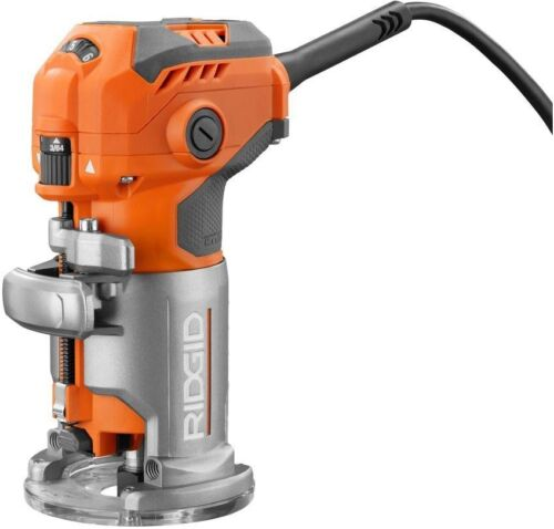 RIDGID 5.5 Amp Corded Compact Router Woodworking Professional Garage Jobsite New