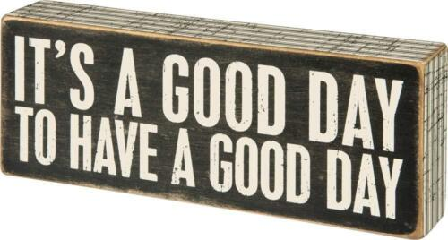 a Good Day Primitives by Kathy Classic Box Sign