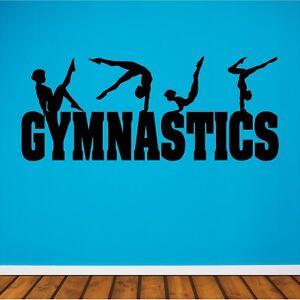 gymnastics wall decal gymnastics sticker removable gymnast gymnastics teaching a young girl large wall decal sticker