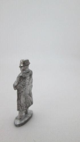 Dollhouse Miniature Unfinished Metal Standing Napoleon Statuette Statue
