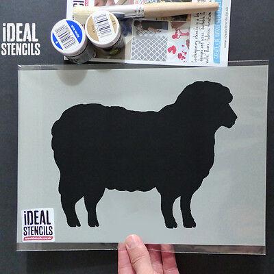 Sheep stencil farm animal wall decor art craft reusable painting Ideal Stencils
