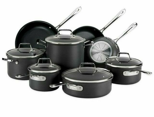 NEW All-Clad B1 Nonstick Hard Anodized 13-Piece Cookware Set