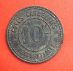 France-Rare-Jeton-de-10-centimes-Lyon-Caves-carmelites