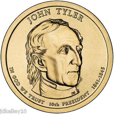 2 Coins US Presidential One Dollars 2009-P/&D  BU Mint State John Tyler