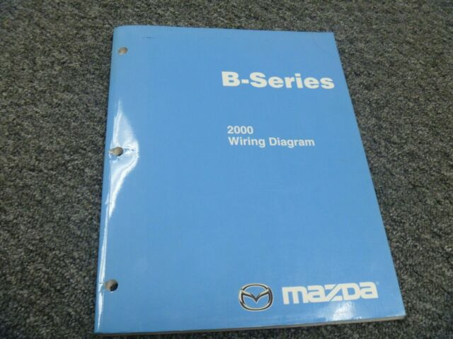 2000 Mazda B2500 B3000 B4000 Truck Electrical Wiring