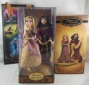 New-Disney-Store-Tangled-Rapunzel-amp-Gothel-Fairytale-Designer-Dolls-LE-0293-6000