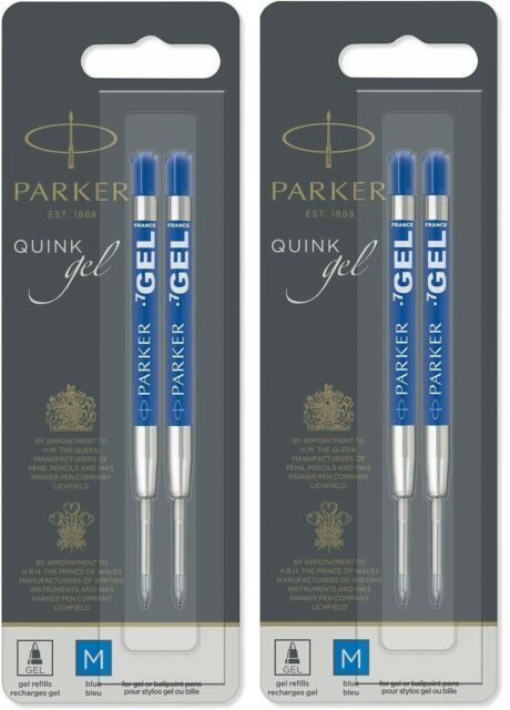 Fine Point 0.5mm 2x Blue Parker RollerBall Refill