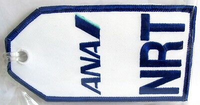 13143 ANA ALL NIPON NRT AIRWAYS AIRLINES AVIATION TRAVEL FABRIC LUGGAGE BAG TAG