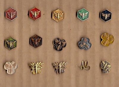 BEES - HONEY 15  DIFFERENT PINS - YUGOSLAVIAN EDITION - RARE EDITION VARIANT 4
