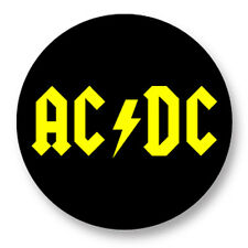 """Pin Button Badge Ø25mm 1"""" ACDC Hard Rock Eavy Metal Angus Young"""
