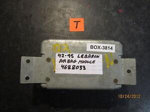 Details about 92 93 94 95 CHRYSLER LeBaron AIRBAG MODULE #P04688033 on dodge challenger fuse box, cadillac xlr fuse box, buick skylark fuse box, gmc envoy fuse box, mercury villager fuse box, jeep comanche fuse box, lincoln mark lt fuse box, hyundai genesis fuse box, mitsubishi eclipse fuse box, buick lesabre fuse box, ford maverick fuse box, suzuki kizashi fuse box, oldsmobile cutlass fuse box, chevy venture fuse box, chevy monte carlo fuse box, porsche 914 fuse box, ford festiva fuse box, cadillac srx fuse box, dodge d150 fuse box, mitsubishi endeavor fuse box,