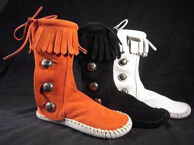 NEW KID/'S TAOS INDIAN MAID RUST or WHITE Moccasins 570