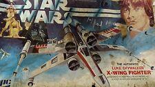 UN-BUILT VINTAGE STAR WARS LUKE SKYWALKER X-WING FIGHTER MODEL KIT 1977 NEW HOPE