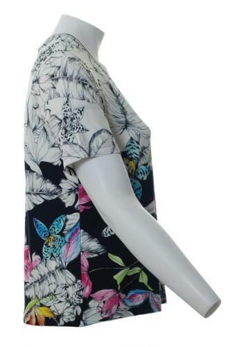 T-Shirt Femme Blanc Avec Buntem Motif Floral aussi de grandes tailles