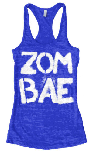 Zombae Zombie Women/'s Burnout Racerback Tank Top Funny Living Dead Lover Gift