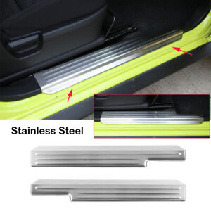 Chrome Steel Door Sill Plates Entry Guard Cover Trim for Suzuki Jimny 2007-2017
