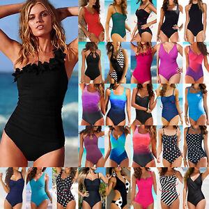 Women-039-s-Bandage-Padded-Monokini-One-piece-Tankini-Beach-Bathing-Swimsuit-Bikini