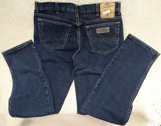 WRANGLER jeans Texas Blue Black Tg.W44/L32 (no stretch)