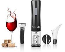 Renewgoo Wine Opener Set 4-in-1 Cordless Electric Automatic Corkscrew, Black