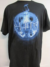 NEW - HIM / H.I.M. BLUE FLAME BAND / CONCERT / MUSIC T-SHIRT EXTRA LARGE