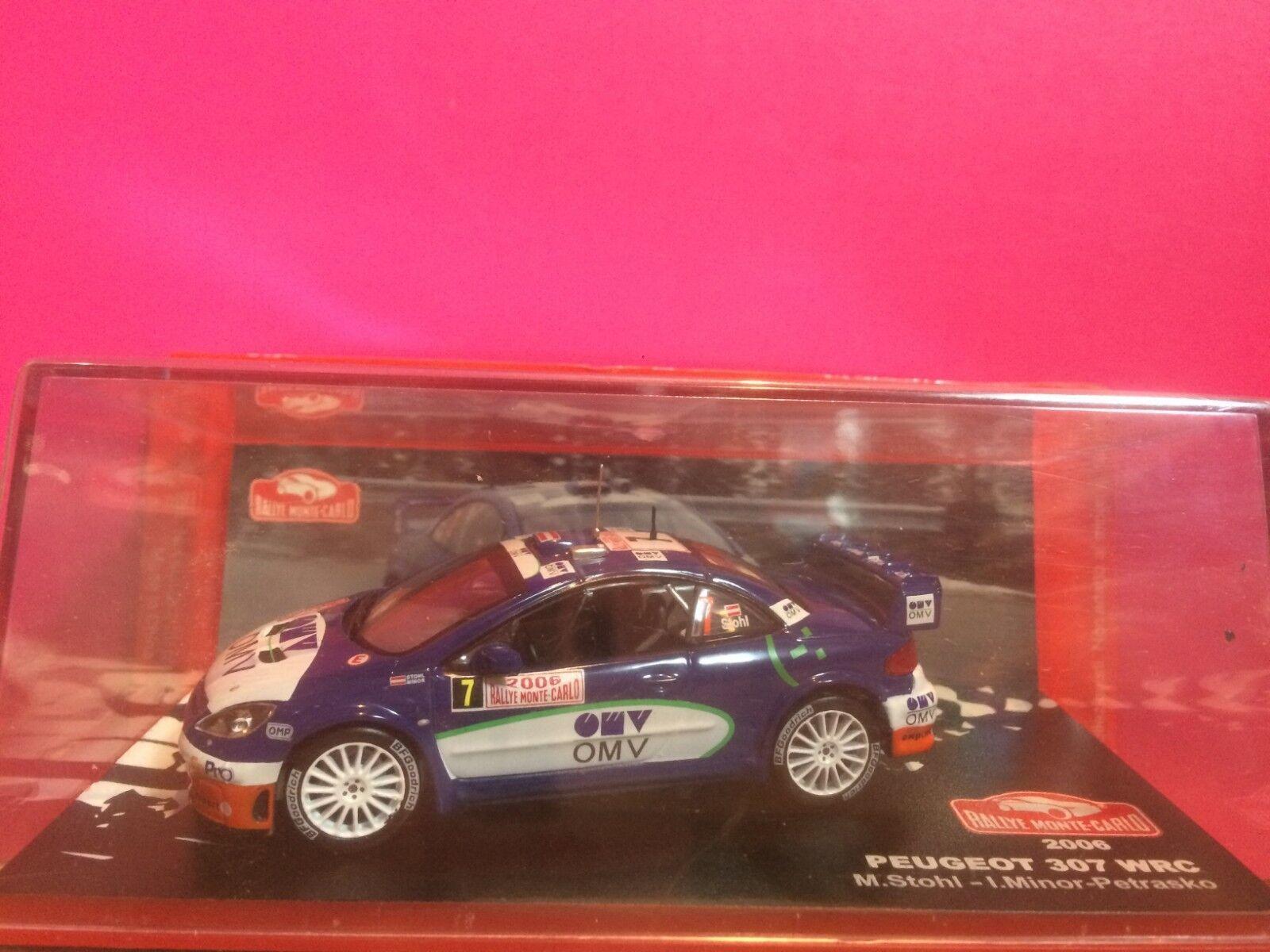 SUPERBE PEUGEOT 307 WRC RALLYE MONTECARLO 2006 NEUF BOITE SOUS BLISTER 1 43 G1