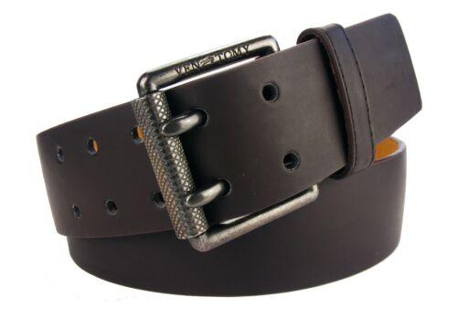 Herrengürtel Gürtel Jeansgürtel glatt Damengürtel braun breit 4,5 cm  #HRG29