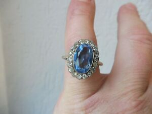 Schoner-alter-Ring-925-Silber-mit-geschliffenen-Steinen