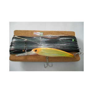 PARATURA TROLLING HANDMADE BY BOAT CONARTIFICIALE TIPO  RAPALA 14CM YELLOW gold  floor price