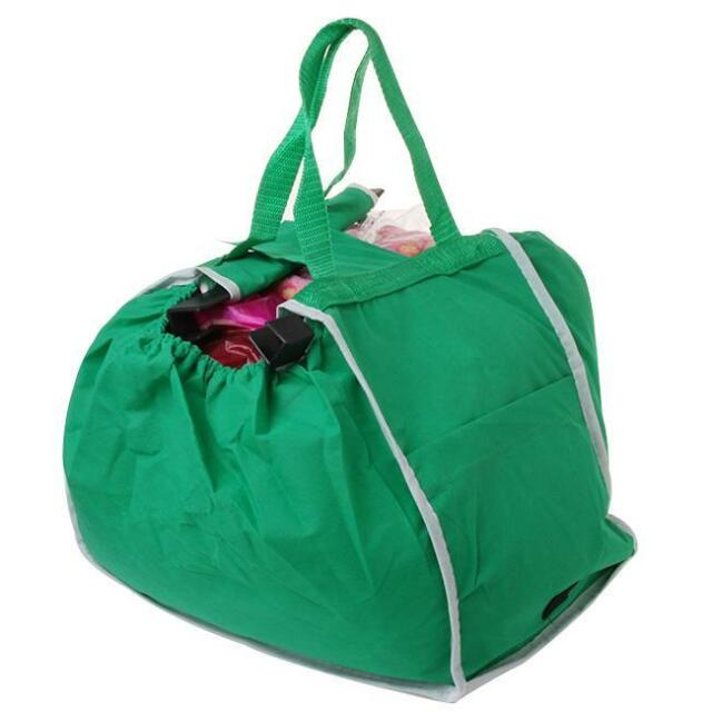 HOT Reusable Grab Bag 2 Pack Ecofriendly Shopping Bag That Clips To Your Cart B