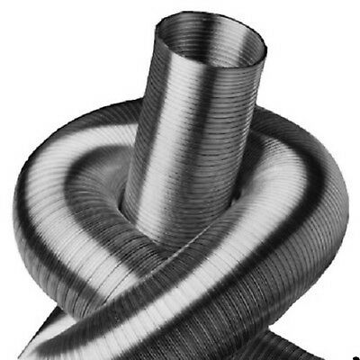 Hingebungsvoll 2-lagig .alu-flexrohr,lüftungsrohr. L-3m Ø 355/400/450/500 Mm Bis 250°c Eine Lange Historische Stellung Haben