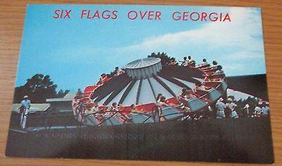 1970s  chrome postcard of the Satellite Ride, 6 Flags over Georgia, Atlanta, Ga.
