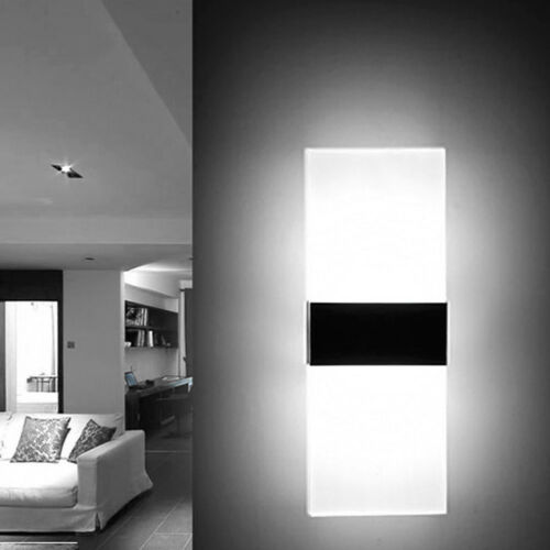 Modern Acrylic LED Wall Sconces Bedside Lamp Fixture Home Bedroom Night Light
